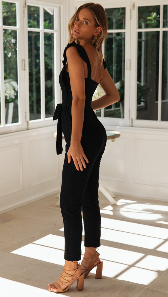 Into Paradise Jumpsuit (Black)