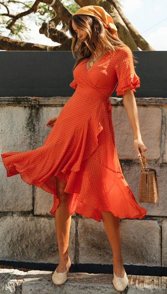 Emerson Dress (Red) by Mura Boutique