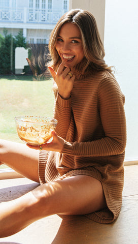 Abella Knit Dress (Chocolate)
