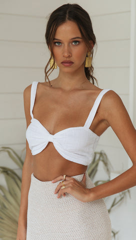 Sorrento Crop (White)