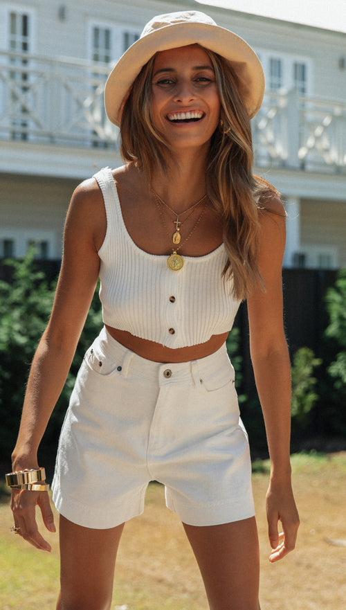 Albany Top (White)
