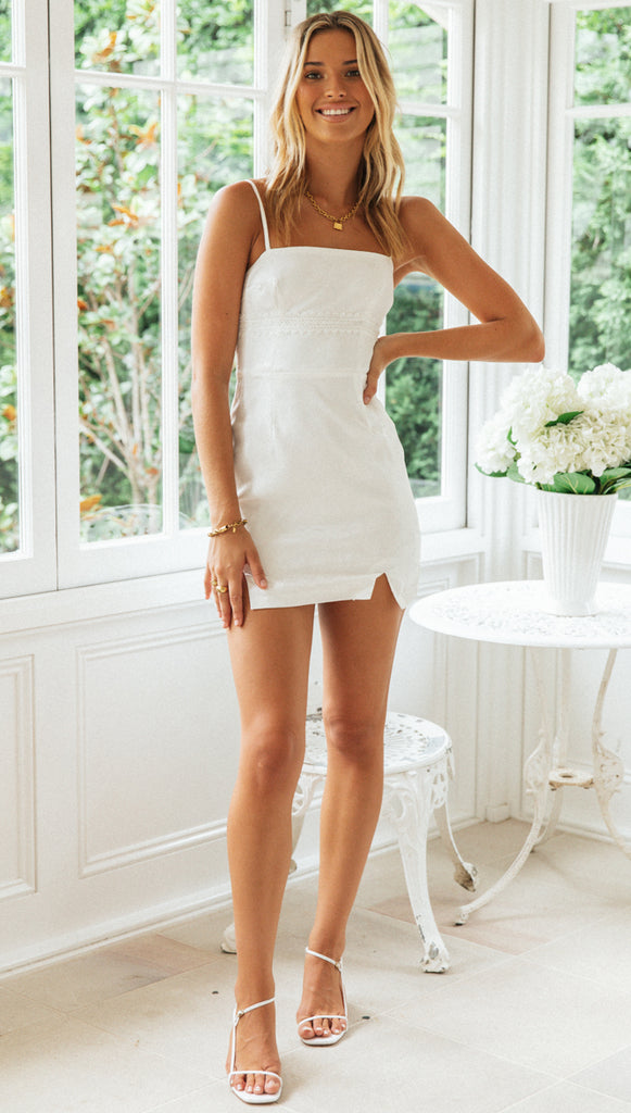 Anita Mini Dress (White)