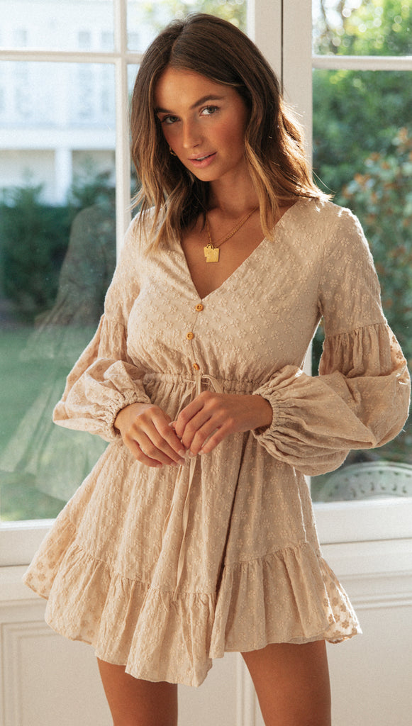 Sweet Agnès Dress (Beige)