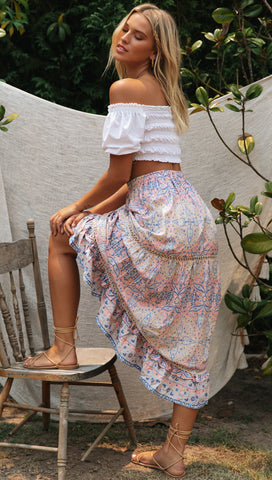 Alouette Skirt (Pink & Blue)