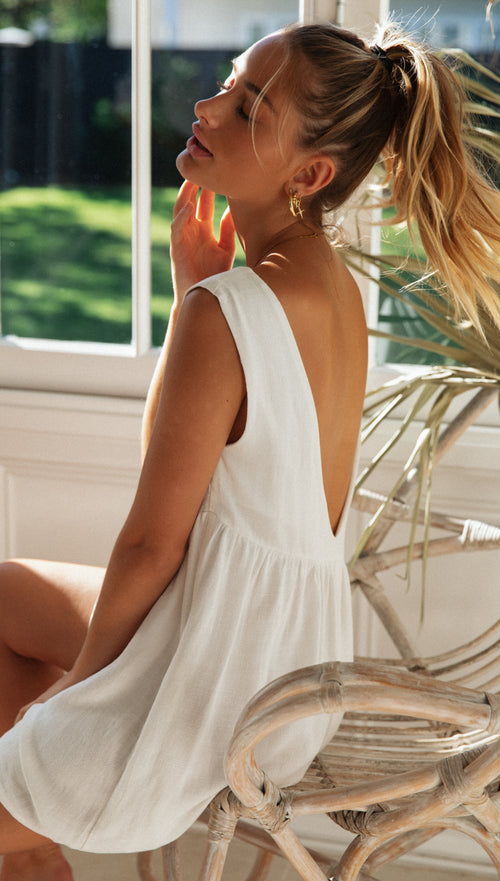 Sorento Playsuit (White)