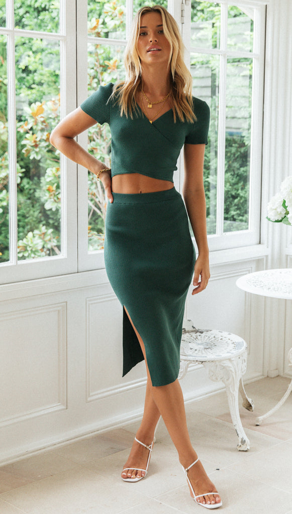 Aubrey Skirt (Forest Green)