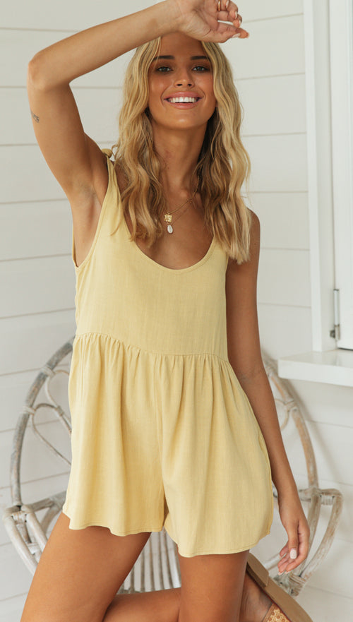 Sienna Playsuit (Gold)