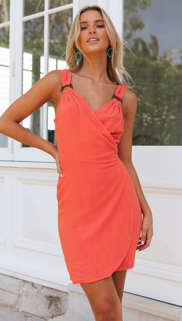 Sunlit Wrap Dress