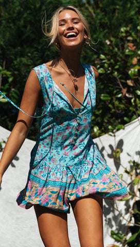 Clemente Playsuit (Teal)