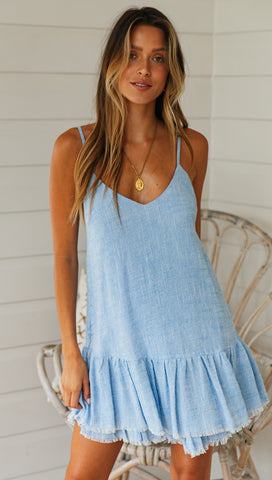 Westport Dress (Blue Denim)