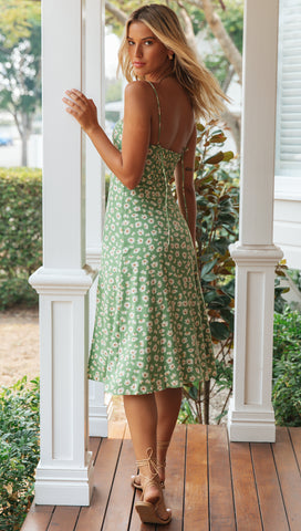 Henriette Dress (Avocado)