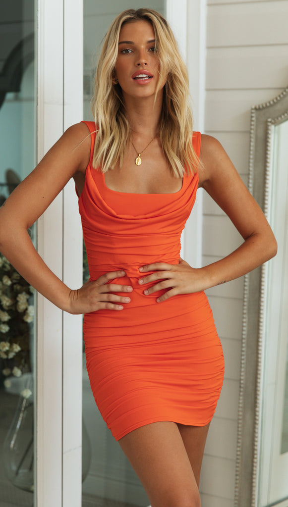 Starlet Dress (Tangerine)