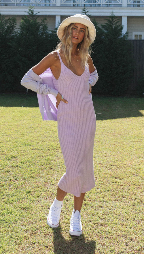 Gisella Midi Dress (Lavender)