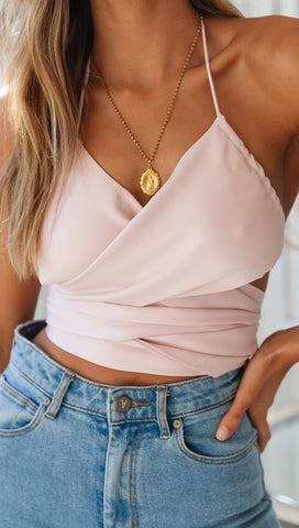 Hands Off Me Crop (Blush)