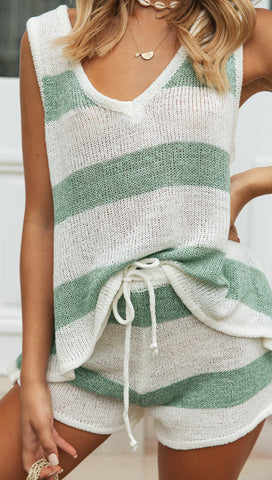 Bayview Set (Mint & White Stripe)