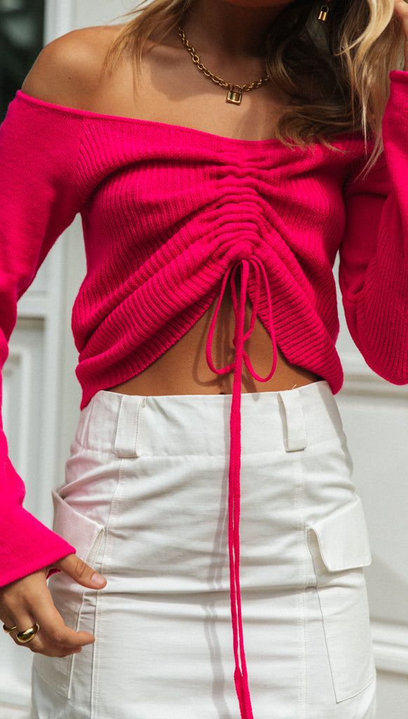 Amie Knit (Hot Pink)