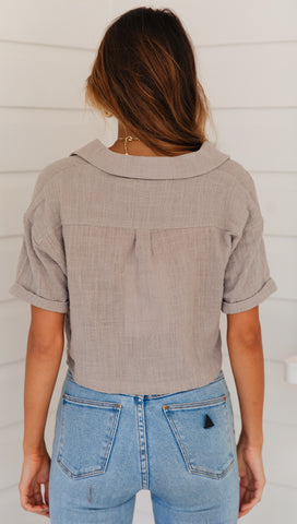 Charleston Top (Khaki)