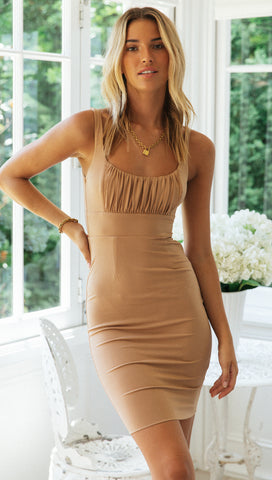 Royals Dress (Caramel)
