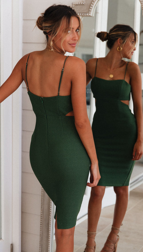 Coral Springs Dress (Forest Green)