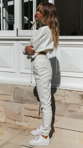 Tenley Track Pants (White)
