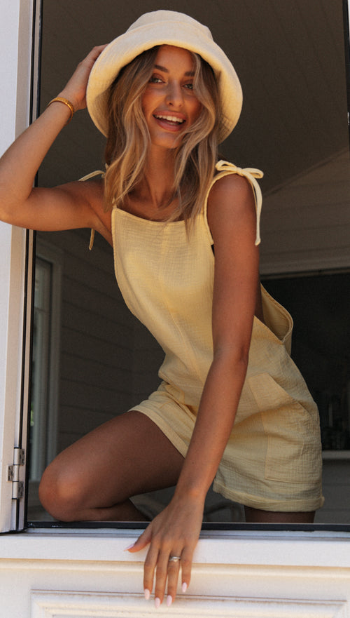 Maggie Playsuit (Lemon)