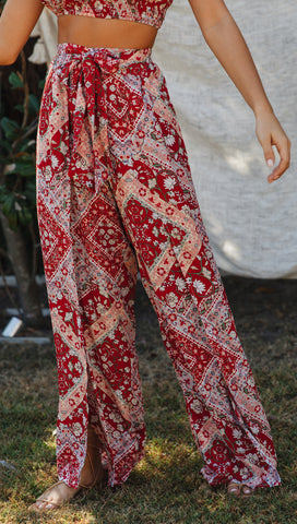 Bernadette Pants (Red Pattern)