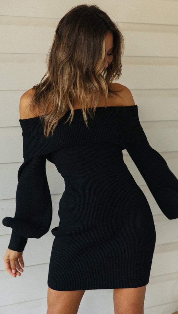 Carry Me Knit Dress (Black)