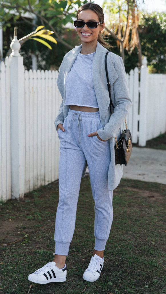 Kalina Top (Grey Marle)