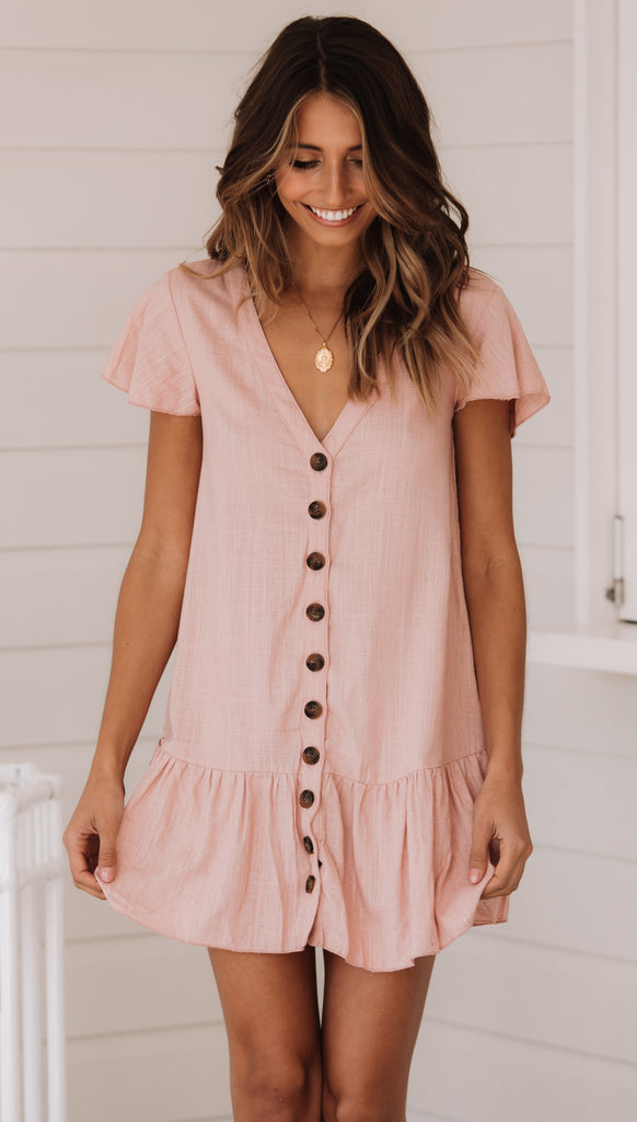 Hazel Mini Dress (Pink)