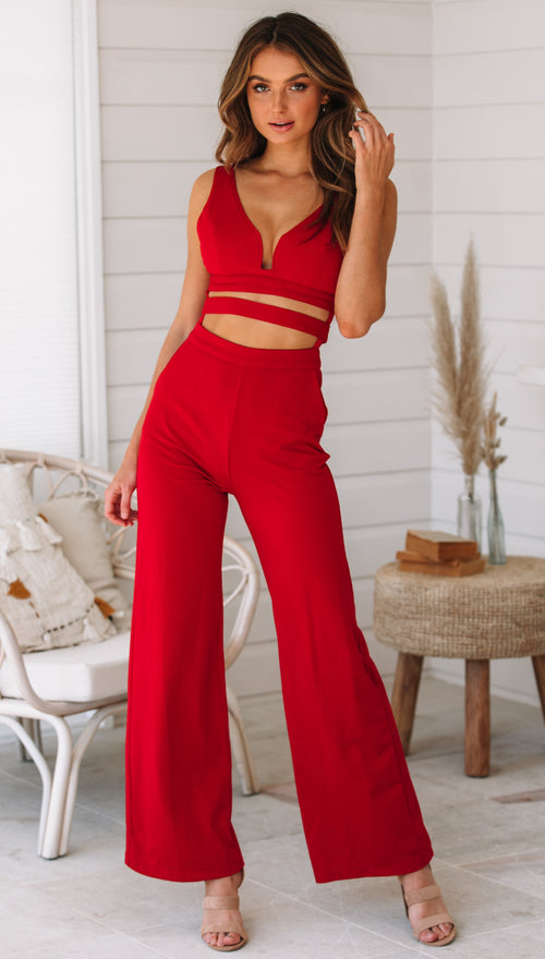 Villo Vento Jumpsuit (Red)