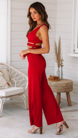 Villo Vento Jumpsuit (Red) Sample Sale