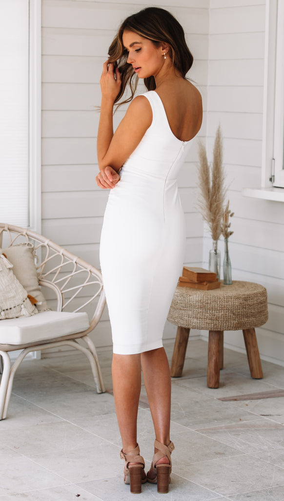 Magic Midi Dress (Ivory)