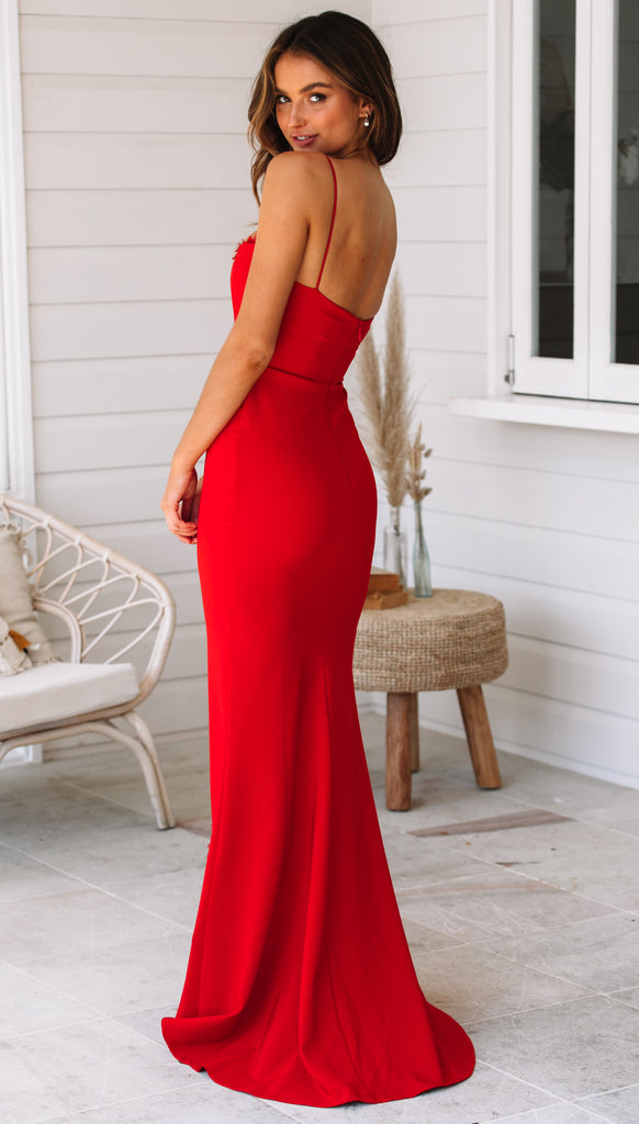 Chloe Lace Gown (Red)