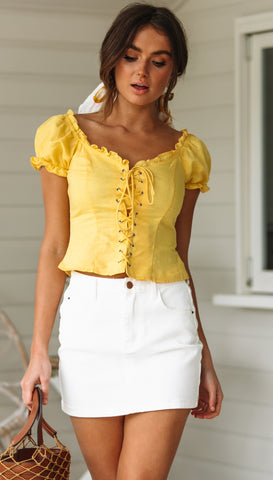Marion Top (Yellow)