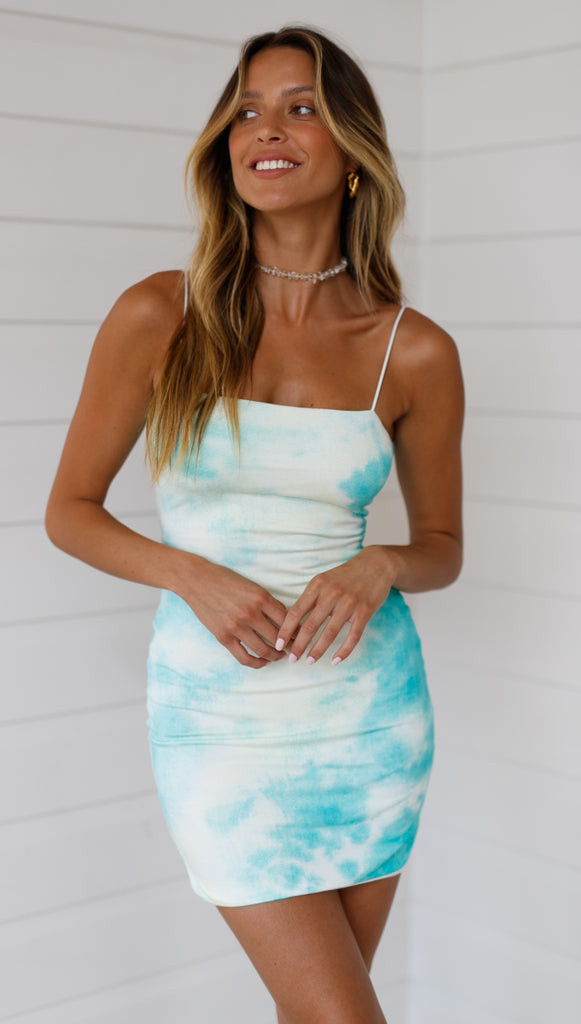Seaforth Mini Dress (Aqua)