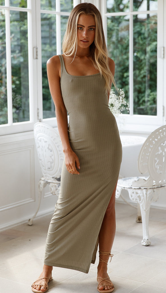 Cassandra Dress (Olive)