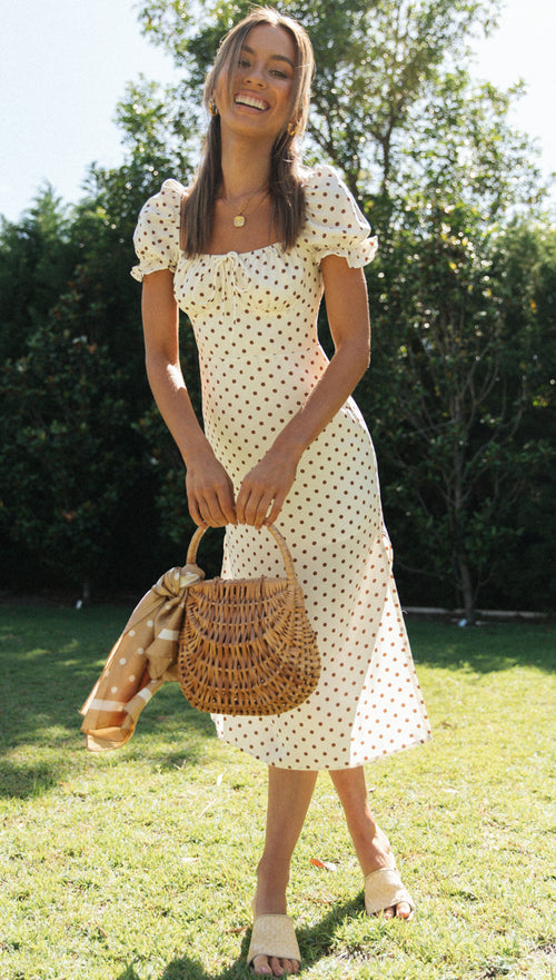 Ana Dress (Brown Spot)