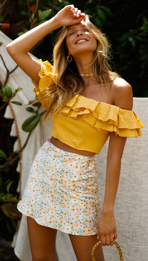 Golden Days Top (Mustard)