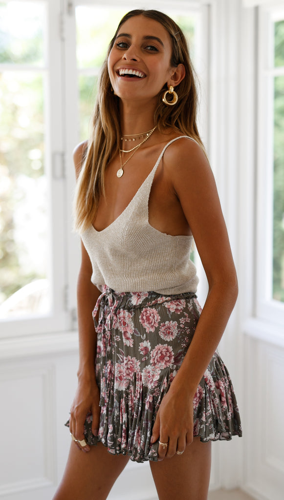 Rose Bud Mini Skirt