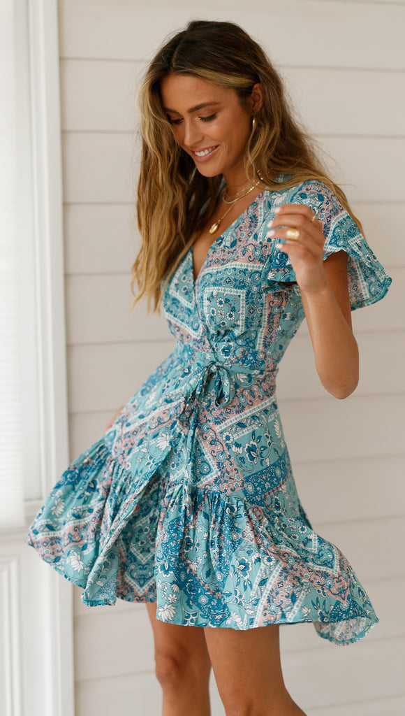 Amazing Grace Dress (Teal)