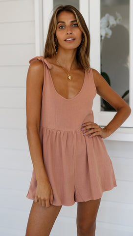 Sienna Playsuit (Mocha)