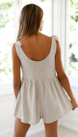 Sienna Playsuit (Biege)