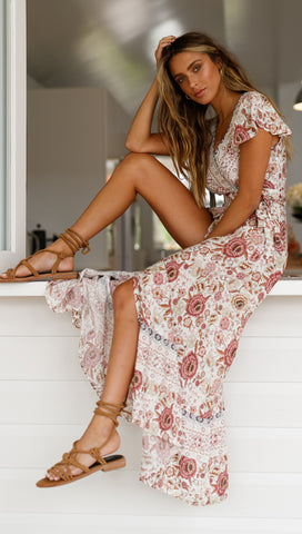 Sunset Dress (Pink Floral)