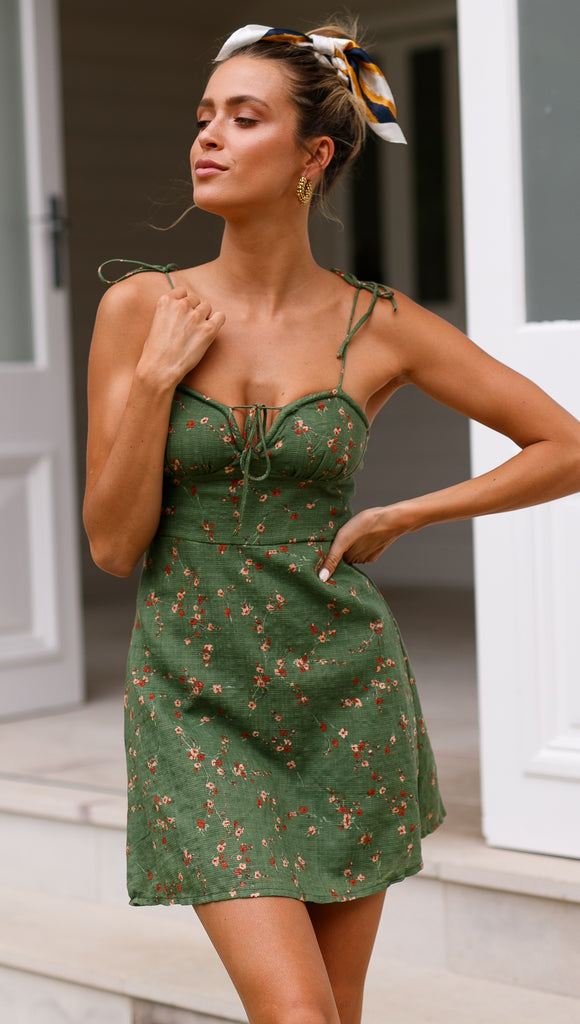 Cherish Me Dress (Green)