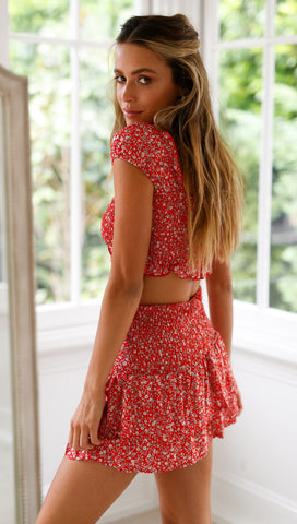 Bambino Top (Red Floral)