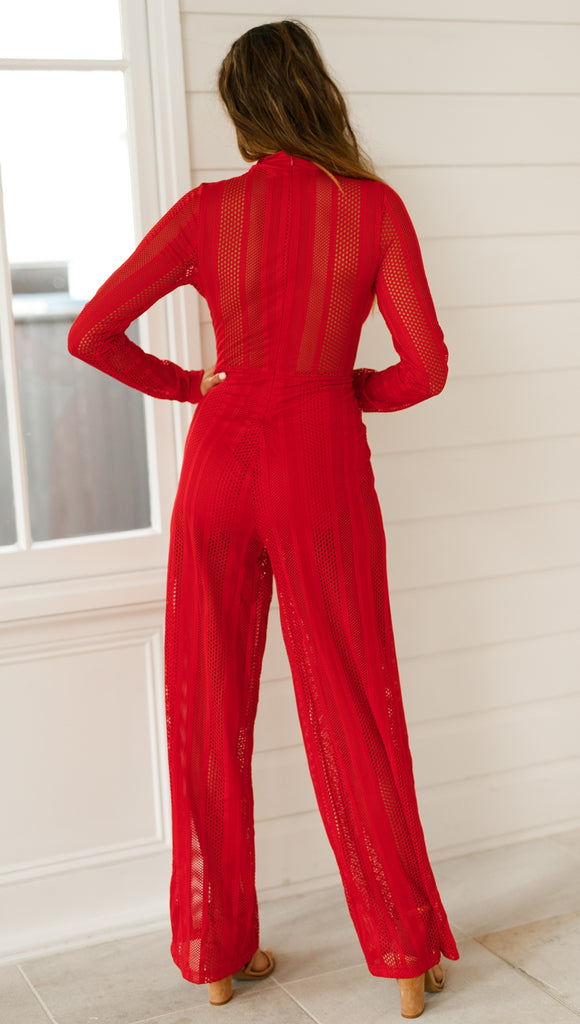 Primrose Jumpsuit (Red)