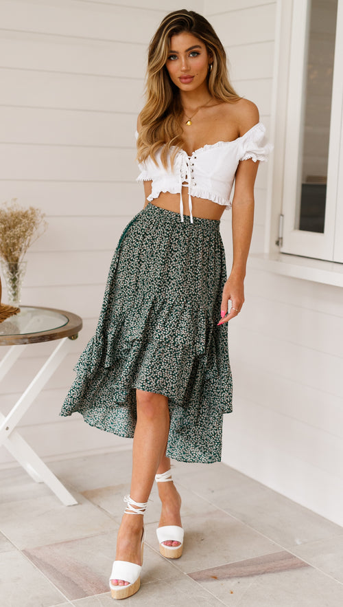 Midnight Emerald Skirt