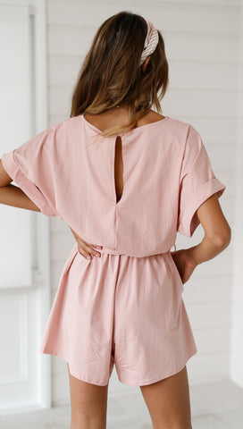 Lucia Playsuit (Blush)
