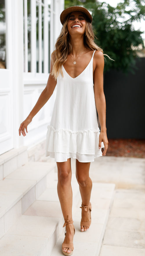 Brighter Star Dress (White)