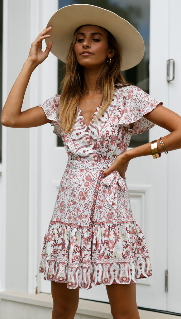 Amazing Grace Dress (Blush Floral)